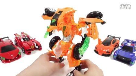 机甲兽神爆裂飞车  跑酷游戏玩法介绍 爆裂飞车大集合 风暴猎鹰爆裂变形 自动变形玩具 你好机器人金雷克斯龙从未来 [迷你特工队之英雄的变形金刚]