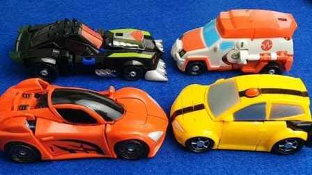 变形金刚之机甲英雄 大黄蜂变汽车 音速金刚 擎天柱 兰博基尼 救护车变形金刚玩具