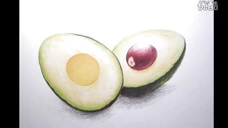 来自美国的华人画家Tina Su的彩铅教程-牛油果