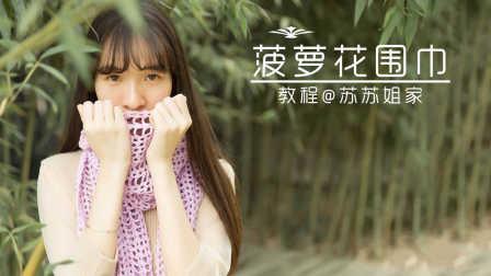 【A057】苏苏姐家_钩针菠萝花围巾_教程