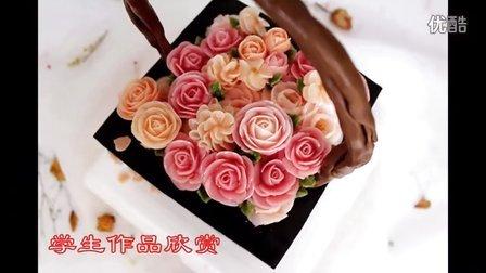 奥斯汀玫瑰—豆沙裱花、韩式奶油霜裱花蛋糕【一花&成铭】
