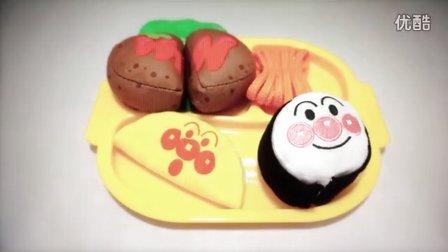 面包超人  面包汉堡包套餐玩具  能自己做的汉堡包玩具