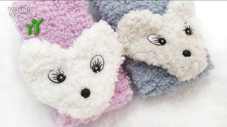 【小脚丫】(小狐狸绒绒围巾02)婴儿围巾毛线的织法毛线编织钩针棒针织围巾小狐狸围巾毛线的织法视频全集