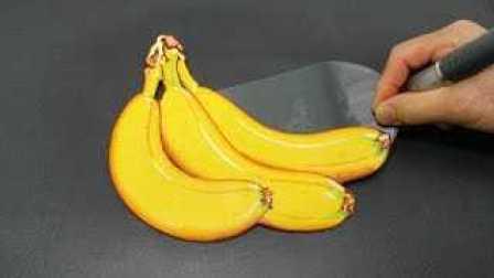 香蕉煎饼艺术煎饼