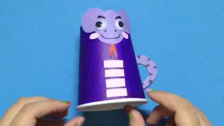 可乐姐姐做手工 纸杯小蛇