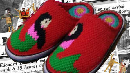 【预告款】毛线鞋编织视频教程毛线拖鞋毛线棉鞋