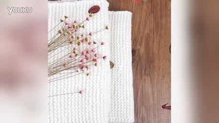 【雅馨绣坊】搓衣板花围巾编织视频第1集最简单编织方法