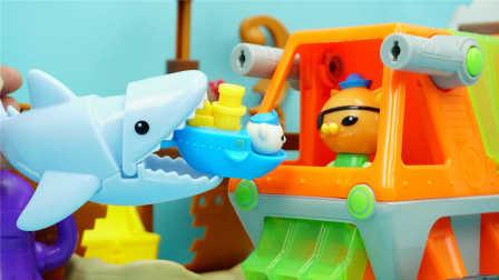 海底小纵队 大鲨鱼与巴克队长 迪士尼 玩具 海底探险队