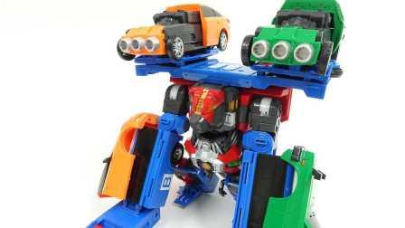 公交变压器玩具 你好机器人路军刀,狮吼萨巴  汽车人装配 汽车人儿童玩具 [迷你特工队之英雄的变形金刚]