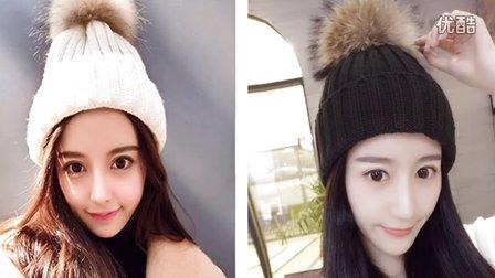 「第59集」萌系手作  皮草毛球帽的织法毛线帽织帽子