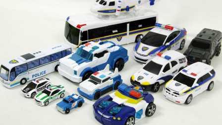 变形金刚警车 机甲兽神 战虎等变形玩具车展示 欧布奥特曼