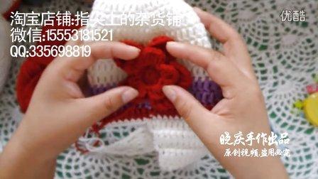 指尖上的杂货铺第二十五集:钩针编织毛线花朵护耳帽(花朵部分钩法)视频教程