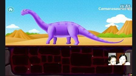 恐龙公园试玩亲子益智游戏挖掘恐龙化石拼装恐龙副栉龙 霸王龙 圆角龙玩具
