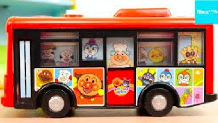 【happy face】【children】面包超人 日本人气巴士玩具车