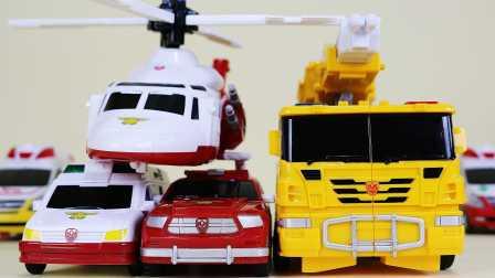 欧布奥特曼 我的变形金刚世界。新系列 救援车辆。汽车人救护车 汽车人装配  婴幼玩具 蛋蛋小子[迷你特工队之英雄的变形金刚]