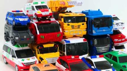 汽车人 我的变形金刚世界  变形警车机械战警 人结合所有机器人救援警察巴士消防车救护车辆变形金刚机器人玩具车  爆能机甲王 蛋蛋小子魔幻车神 微 汽车人总动员