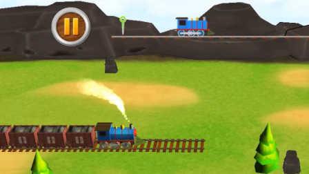 小火车铺轨道游戏!托马斯和他的朋友们!儿童益智!
