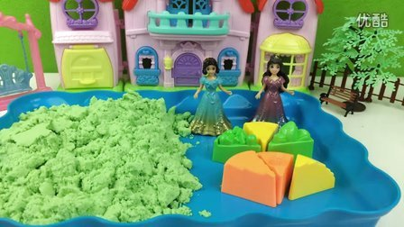 白雪公主和索菲亚公主太空沙制作好吃的蛋糕!橡皮泥培乐多彩泥黏土过家家玩具亲子游戏奇趣蛋小猪佩奇粉红猪小妹奥特曼光头强熊出没海绵宝宝超级飞侠变形金刚185