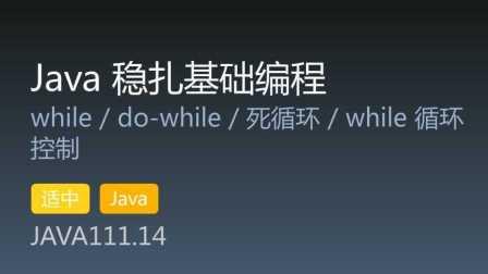 JAVA111.14 - Java 稳扎基础编程 第14集