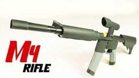 教你用纸做一把可以发射的M4