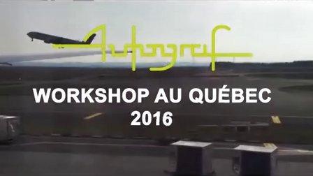 Autograf巴黎高等艺术设计学院在魁北克的Workshop_2016