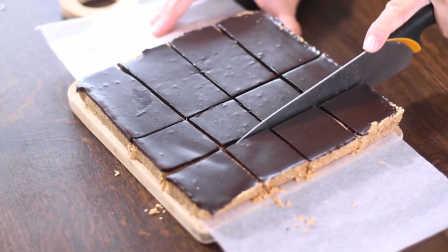 健康无烘烤巧克力花生酱燕麦棒的做法
