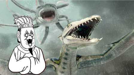 一分钟看完《八爪狂鲨大战梭鱼翼龙》 77