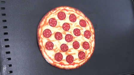 煎饼艺术之意大利辣味香肠披萨饼