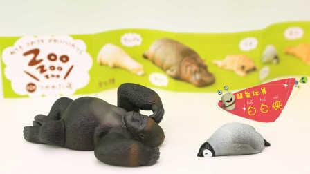 超能玩具白白侠 2016 日本食玩 睡眠动物园扭蛋 大猩猩和小企鹅 睡眠动物园扭蛋大猩猩