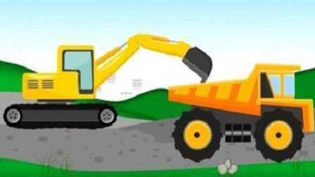 最新挖掘机工作视频 工程车现场运输石块