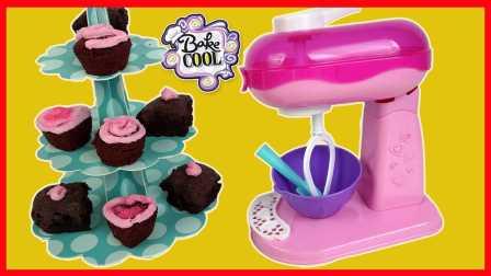 开心时刻与玩具介绍 2016 厨房玩具用搅拌机做食玩蛋糕甜点过家家 搅拌机食玩蛋糕甜点