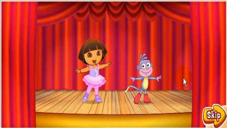 爱跳绳跳舞的朵拉和布茨 4399小游戏