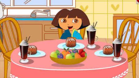 爱探险的朵拉小游戏:朵拉的秋季早餐