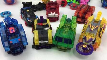 【机甲兽神爆裂飞车玩具】机甲兽神爆裂飞车烈火狂牛玩具拆箱