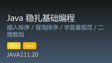 JAVA111.20 - Java 稳扎基础编程 第20集