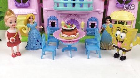 芭比娃娃和海绵宝宝做好吃的生日蛋糕!橡皮泥培乐多彩泥黏土过家家玩具亲子游戏小猪佩奇粉红猪小妹工程车奥特曼光头强熊出没海绵宝宝超级飞侠变形金刚奇趣蛋226
