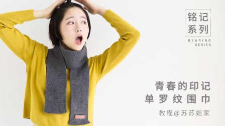 【A076】苏苏姐家_青春的印记_棒针单罗纹围巾_教程