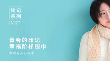 【A078】苏苏姐家_青春的印记_棒针幸福阶梯围巾_教程