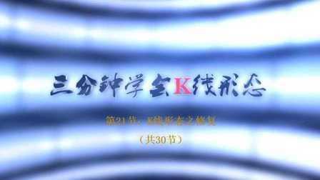 【李志尚】三分钟学会K线形态(共30节)第21节:K线形态之修复