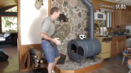 废弃油桶制作的取暖炉