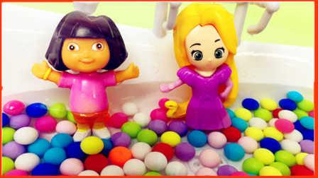 糖果浴缸洗澡 朵拉芭比公主