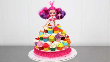 公主malucia芭比娃娃蛋糕连衣裙蛋糕
