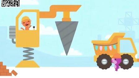 赛哥迷你假日卡车与挖掘机第5期:驾驶土方车和推土机等工程车造雪城堡筱白解说