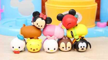 迪士尼 tsumtsum 可爱叠叠乐 10只日本版拆箱 米老鼠 唐老鸭