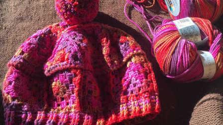 木兰阁丨祖母方格亲子帽编织教程
