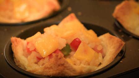 冷米饭的创意吃法——吐司芝士烤饭团