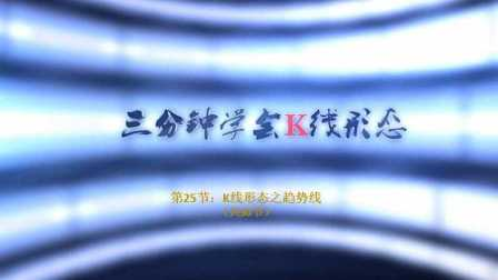 【李志尚】3分钟学会K线形态(共30节)第25节:K线形态之趋势线
