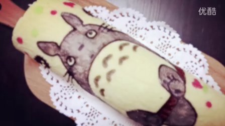 龙猫戚风蛋糕卷Totoro Roll Cake