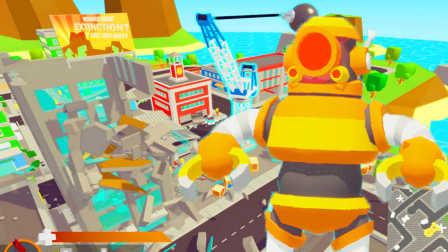 【屌德斯解说】 模拟摧毁城市 操纵巨型机器人踏平整座城市