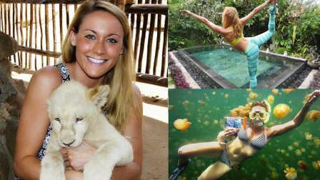 27岁性感美女15个月穷游181个国家 即将打破世界记录 63